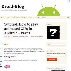 Tutorial: How to play animated GIFs in Android – Part 1