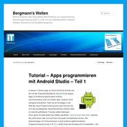 Tutorial - Apps programmieren mit Android Studio - Teil 1
