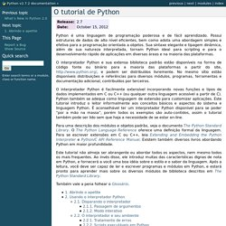 O tutorial de Python — Python v2.7.2 documentation