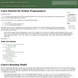 Cairo Tutorial for Python Programmers