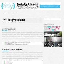 Tutorial: Python