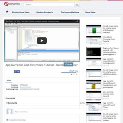 App Game Kit, Agk First Video Tutorial - Random Number Guessing Game - Tutorial Videos