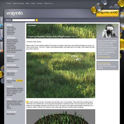 Tutorial: Creating Realistic Grass with VRayProxies - Part 2
