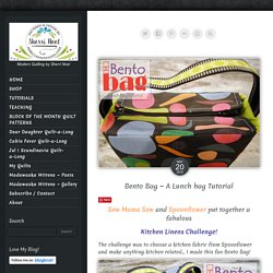 Bento Bag ~ Lunch bag sewing tutorial from RebeccaMaeDesigns