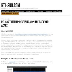 Tutorial: Receiving Airplane Data with ACARS