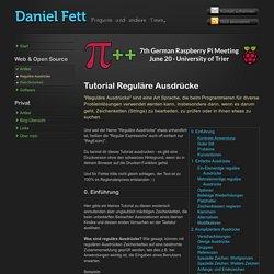 Tutorial Reguläre Ausdrücke - Daniel Fetts Homepage