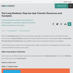 Flat Long Shadows: Step-by-step Tutorial, Resources and Examples