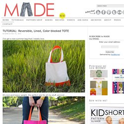 Reversible, Lined, Color-blocked TOTE