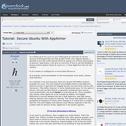 Tutorial: Secure Ubuntu With AppArmor - Overclock.net - Overclocking.net