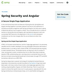 Tutorial · Spring Security and Angular