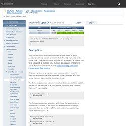 :nth-of-type(N) (CSS selector)