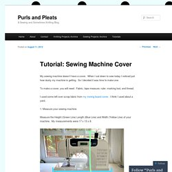 Tutorial: Sewing Machine Cover
