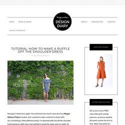 tutorial: how to make a ruffle off the shoulder dress — megan nielsen design ...