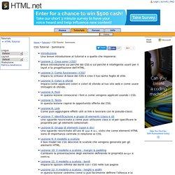 CSS Tutorial - Sommarioitatutorial - HTML.net