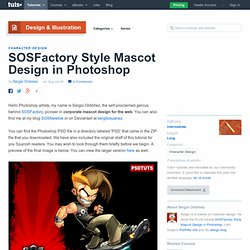 New Premium Tutorial – SOSFactory Style Mascot Design in Photoshop