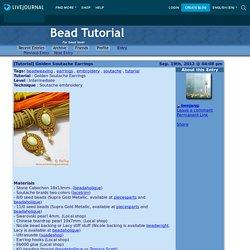 [Tutorial] Golden Soutache Earrings - Bead Tutorial