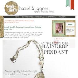 Tutorial: Sparkly Raindrop Pendant from Antique Fishing Lure « Hazel & Agnes