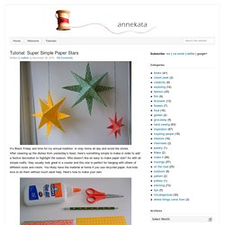 Tutorial: Super Simple Paper Stars
