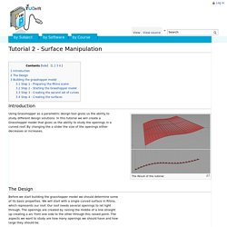 Tutorial 2 - Surface Manipulation