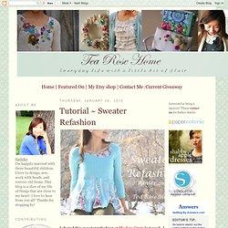 Tutorial ~ Sweater Refashion