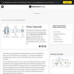 Triac Tutorial and Triac Switching Circuits