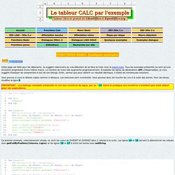 Tutorial - Tableur Calc d'OpenOffice.org par l'exemple