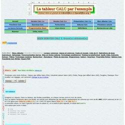 Tutorial - Tableur Calc d'OpenOffice.org par l'exemple