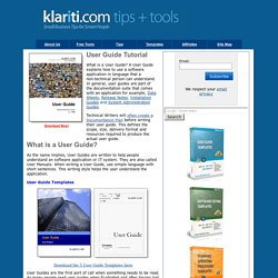 User Guide Tutorial