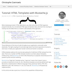 Tutorial: HTML Templates with Mustache.js