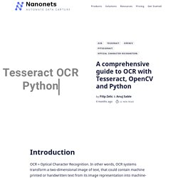 [Tutorial] OCR in Python with Tesseract, OpenCV and Pytesseract