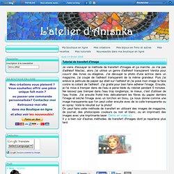 Tutorial de transfert d'image - L'atelier d'Anishka