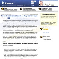 Tutorial: Transforma tu web en Responsive Design