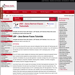 JSF Tutorial,JSF Tutorials,Java Server Face,Java Server Faces,Online JSF Tutorial
