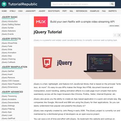 jQuery Tutorial - An Ultimate Guide for Beginners