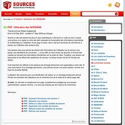 Tutorial PHP - Utilisation des SESSIONS