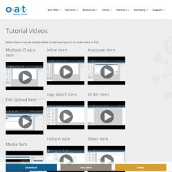 Tutorial Videos - OAT - Home of TAO