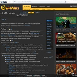 UI XML tutorial - WoWWiki - Your guide to the World of Warcraft