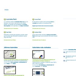 tutoriales-flash.com - La web de los tutoriales de FLASH y ActionScript en castellano