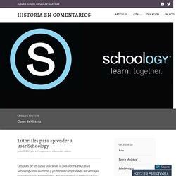 Tutoriales para aprender a usar Schoology – Historia en Comentarios