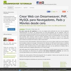 Tutoriales Dreamweaver: Desarrollo de una pagina Web desde cero en PHP