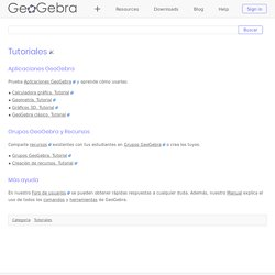 Tutoriales - GeoGebra Manual