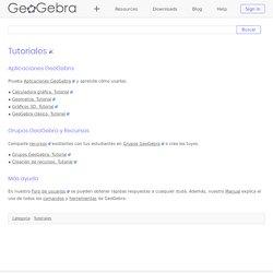 Tutoriales - GeoGebra Manual