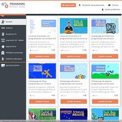 Cursos y tutoriales de programación con Scratch
