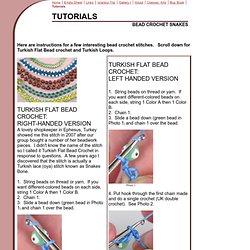 bead crochet snakes