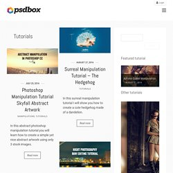 Tutorials « Categories « PSD Box – Think Outside the box