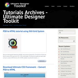 Tutorials | Ultimate Designer Toolkit