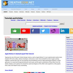 Tutorials and Articles - Creative COW