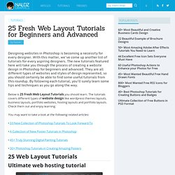25 Fresh Web Layout Tutorials for Beginners and Advanced