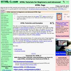 HTML 5 Tutorial - HTML 5
