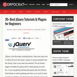 30+ Best jQuery Tutorials & Plugins for Beginners – Corpocrat